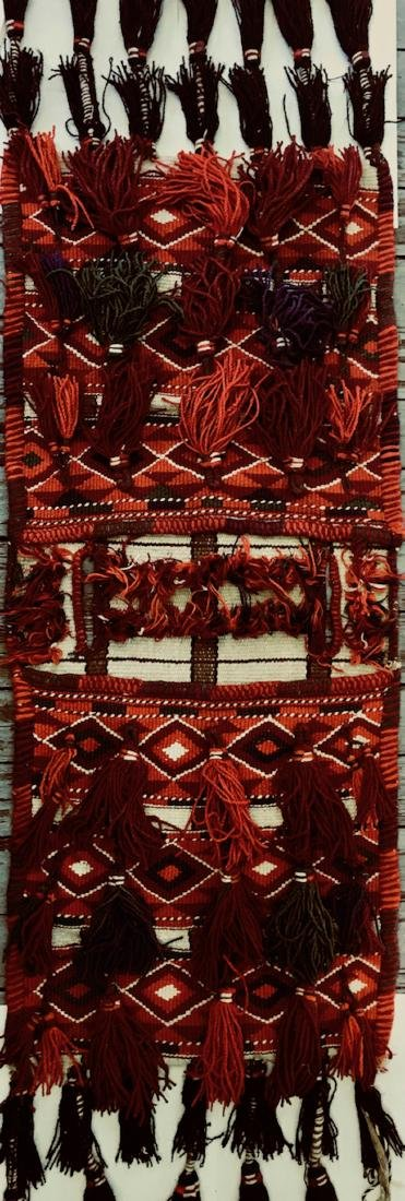 Moroccan Hand-Woven Tribal Nomadic Saddle Bag