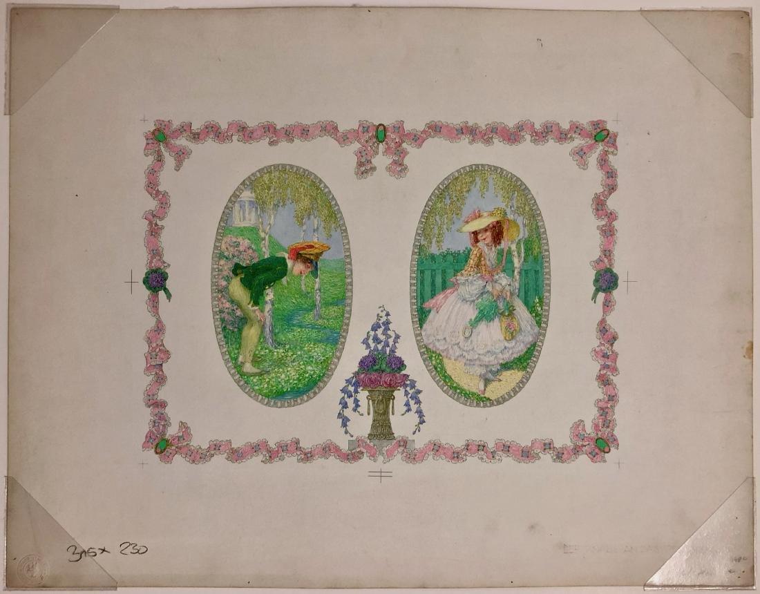 Heinrich Lefler Der Knabe an das Veilchen 1900s