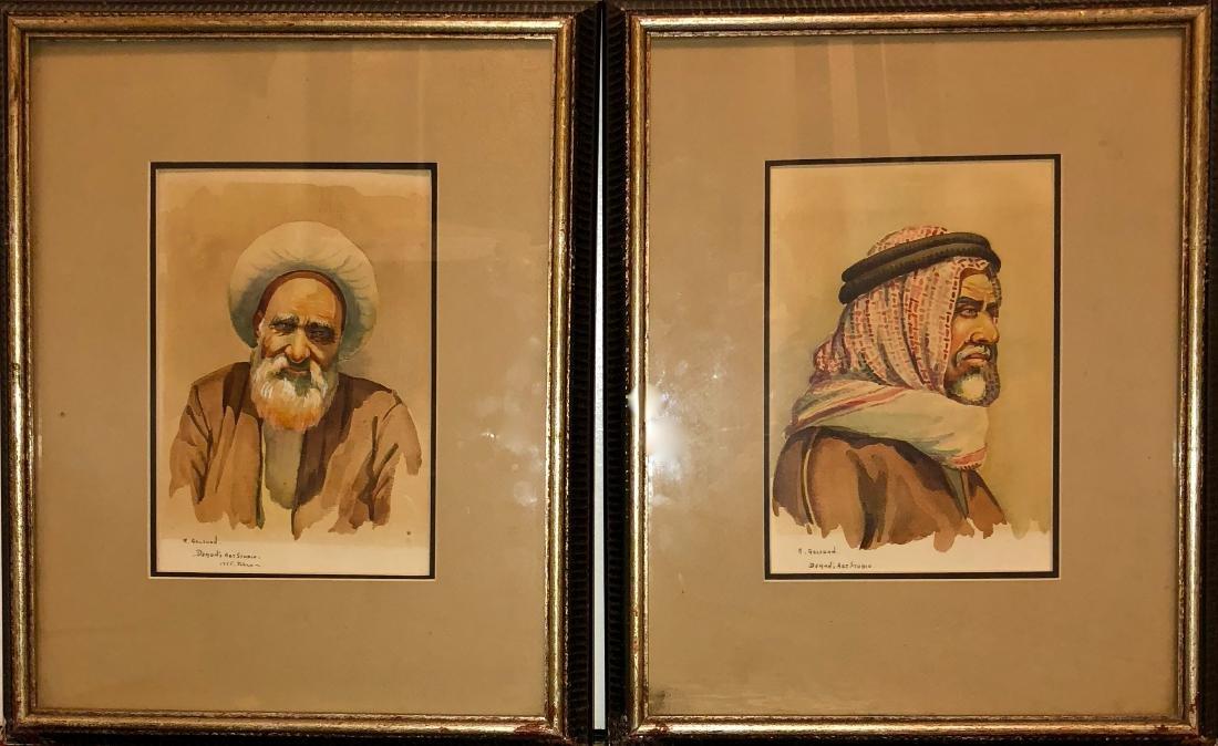 Persian Paintings by Iranian Artist Golshan, 1955