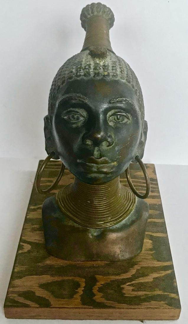 Bronze Sculpture of Ndebele Tribe Woman, Signed