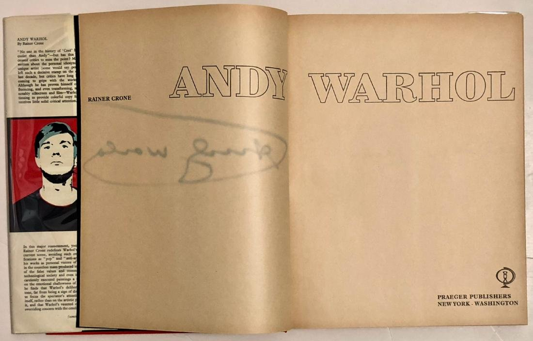 Andy Warhol: Crone Rainer Hand-Signed Book 1970 - 4