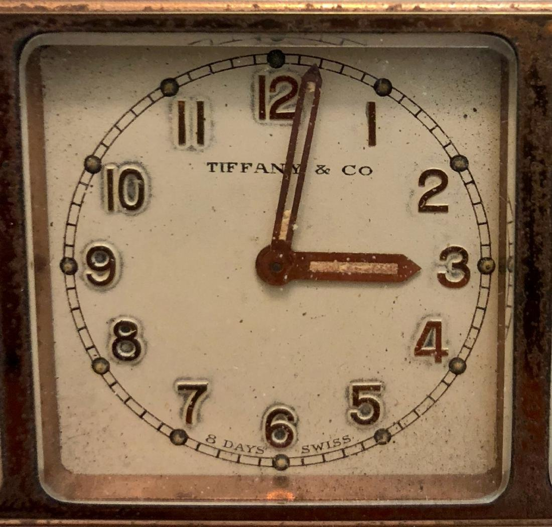 Antique Tiffany & Co 4 Face Weather Station Clock - 4