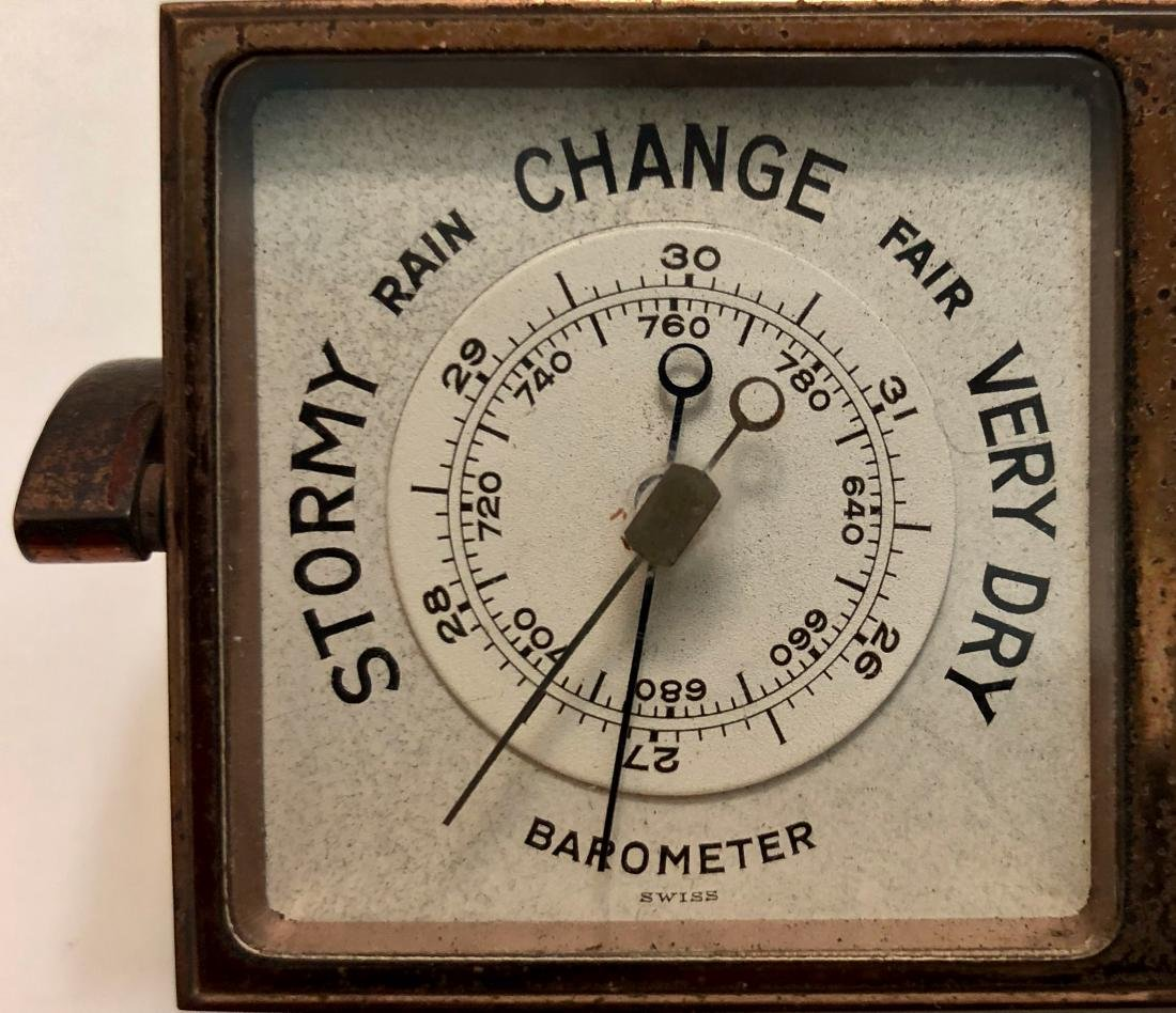 Antique Tiffany & Co 4 Face Weather Station Clock - 5