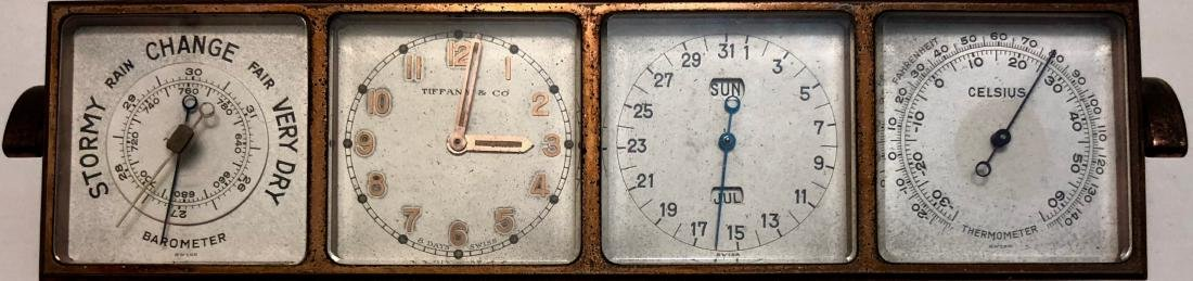 Antique Tiffany & Co 4 Face Weather Station Clock - 6