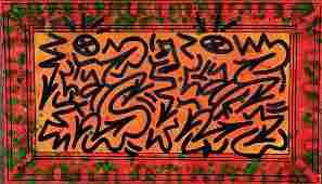 LA II (Angel Ortiz) Graffiti Painting On Found Wood