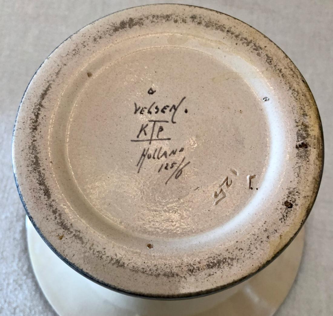 Vintage Dutch Velsen Vaas Ceramic Vase - 5