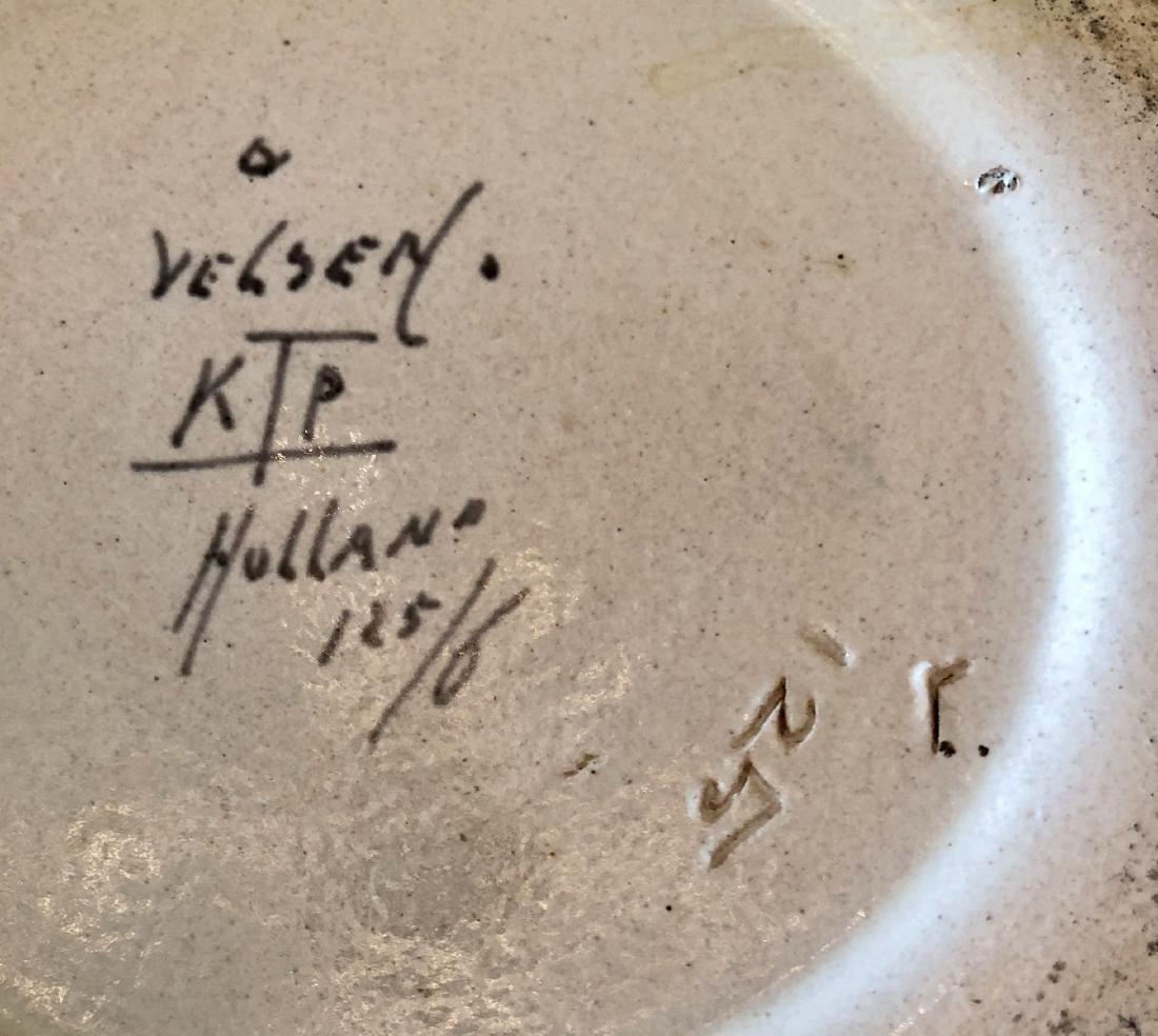 Vintage Dutch Velsen Vaas Ceramic Vase - 6