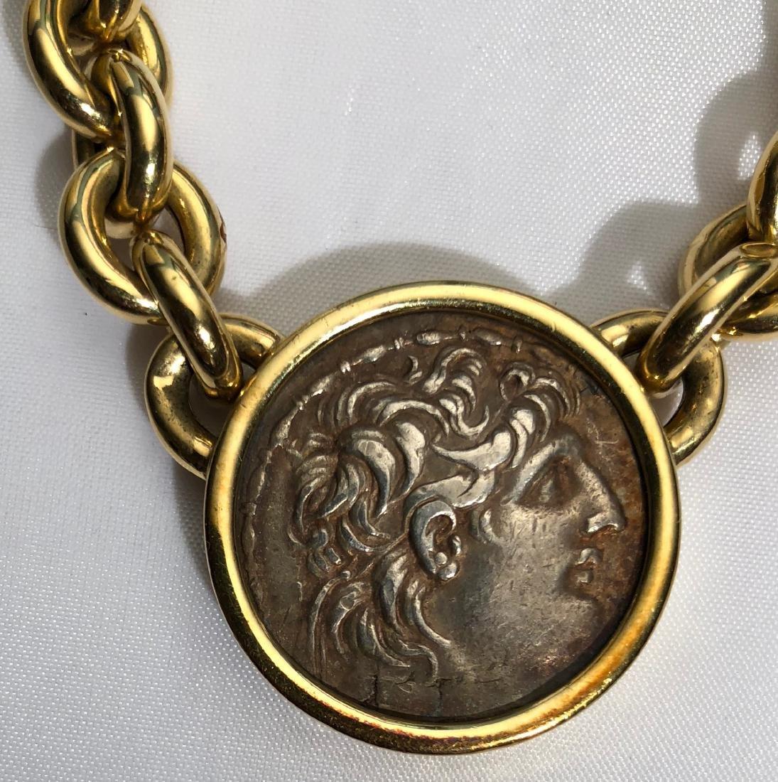 Bucciari 18k Ancient Coin Chain Link Necklace - 2