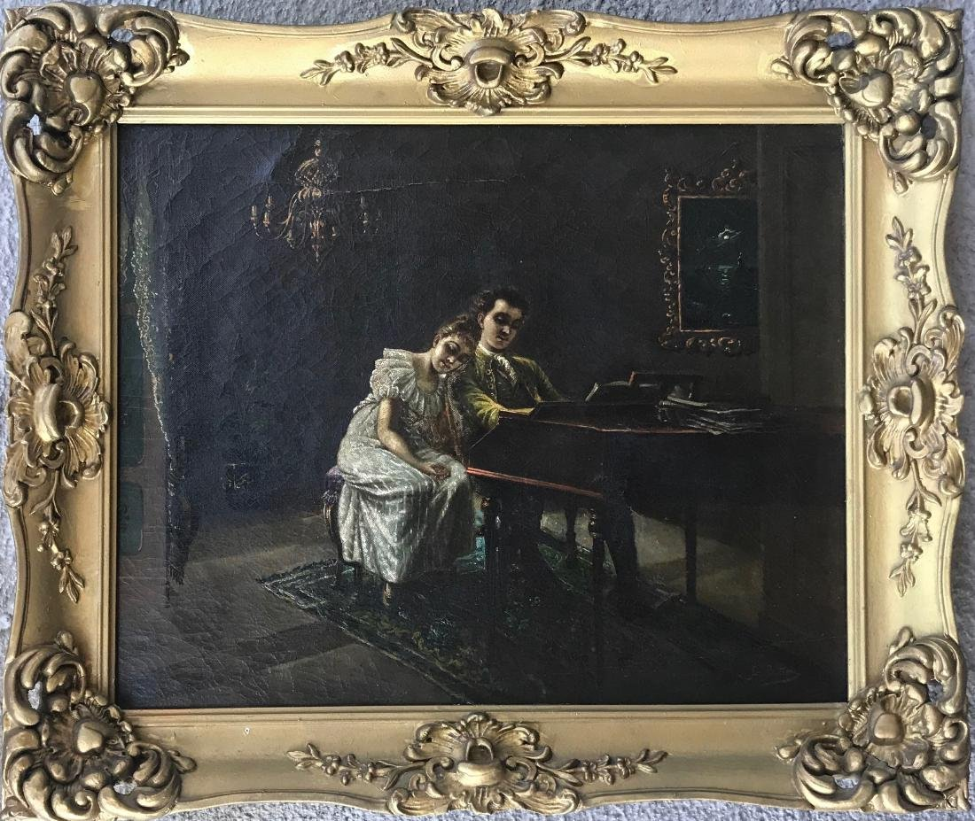 19th C. European Painting COURTING COUPLE G Beltrone
