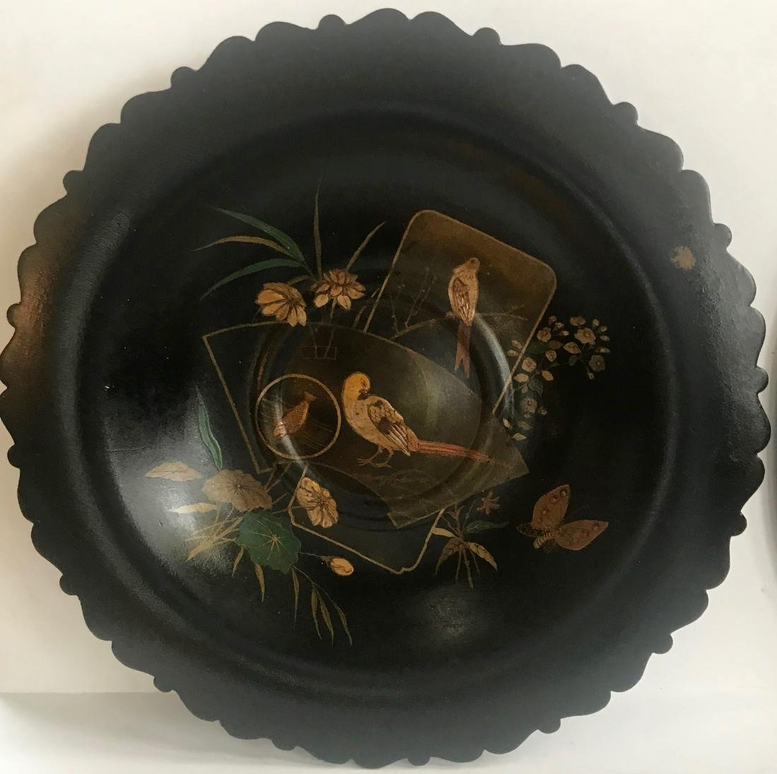 19th C. Chinoiserie Gilt Center Bowl & Dragon Tray - 2