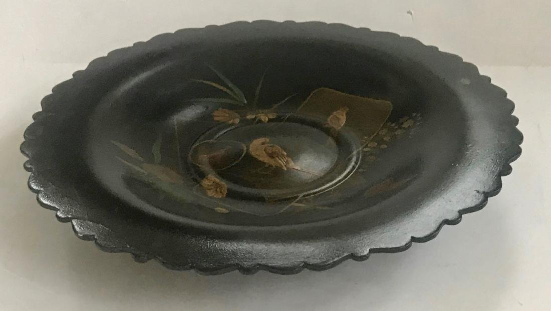 19th C. Chinoiserie Gilt Center Bowl & Dragon Tray - 6