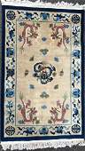 Chinese Handwoven Imperial Five Clawed Dragon Rug