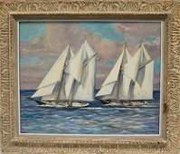 New England Maritime Painting George Dinckel