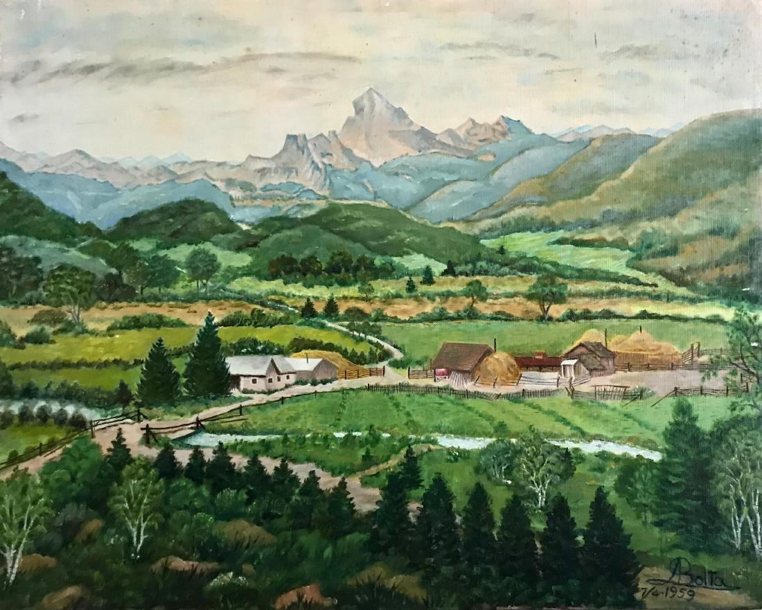American Farm Landscape Painting, Boito 1959