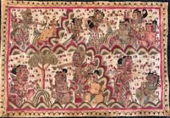 Antique Bali Folk Art Painting, Indonesia