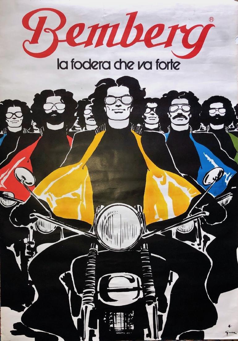Bemberg BIKERS Vintage Poster, RENE GRUAU