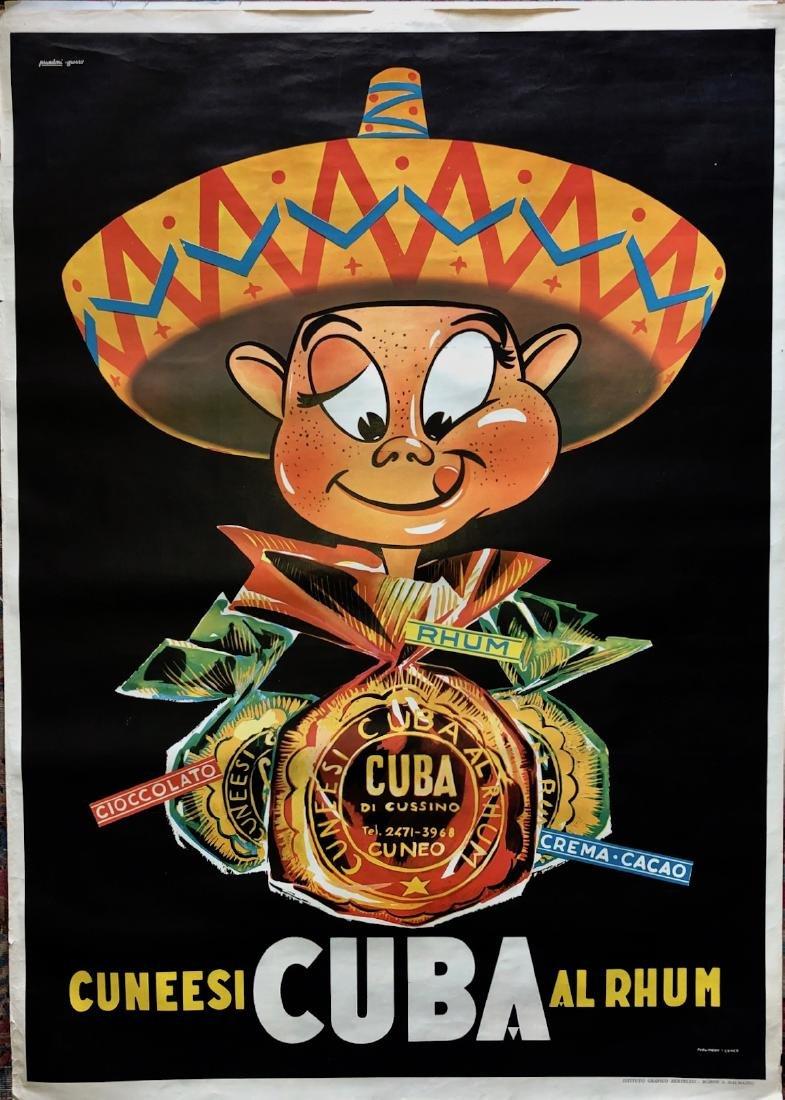 Cuneesi CUBA RUM Chocolate PRANDONI Advertisement