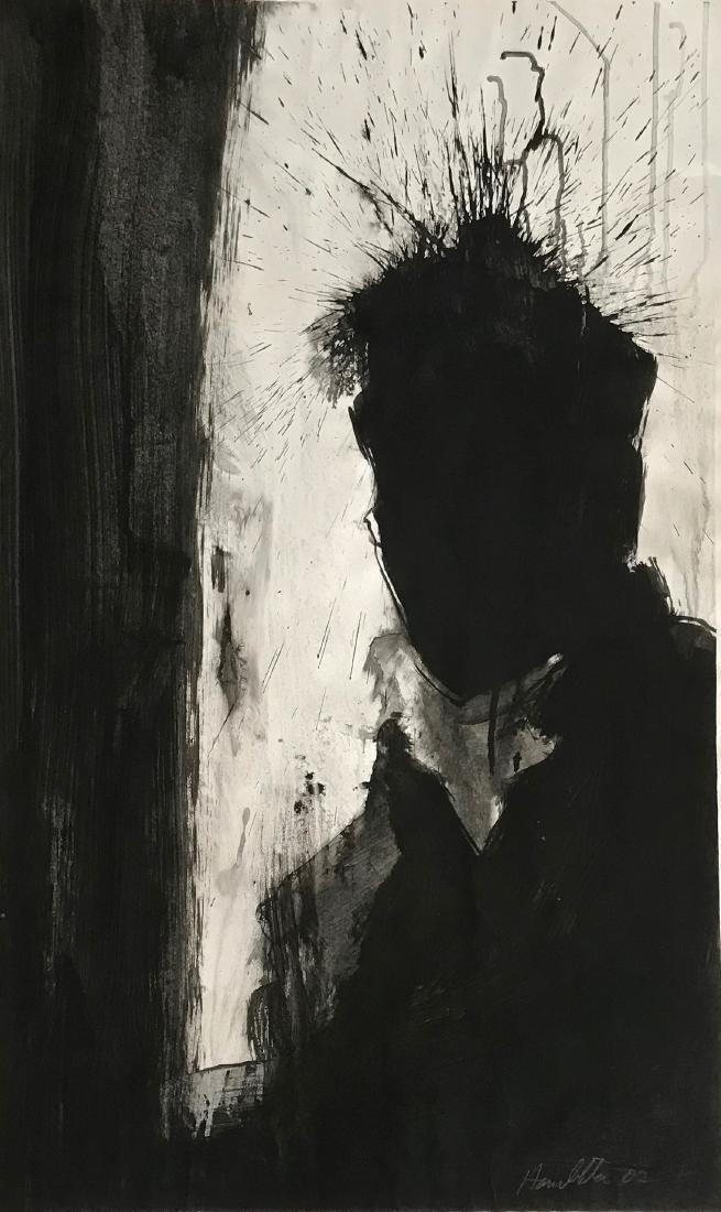 Richard Hambleton SHADOW HEAD Painting