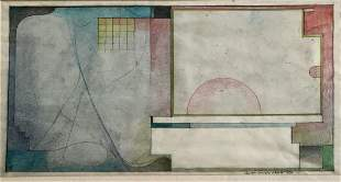 Carlton Sturges Abbott (American,1939) Drawing 1979