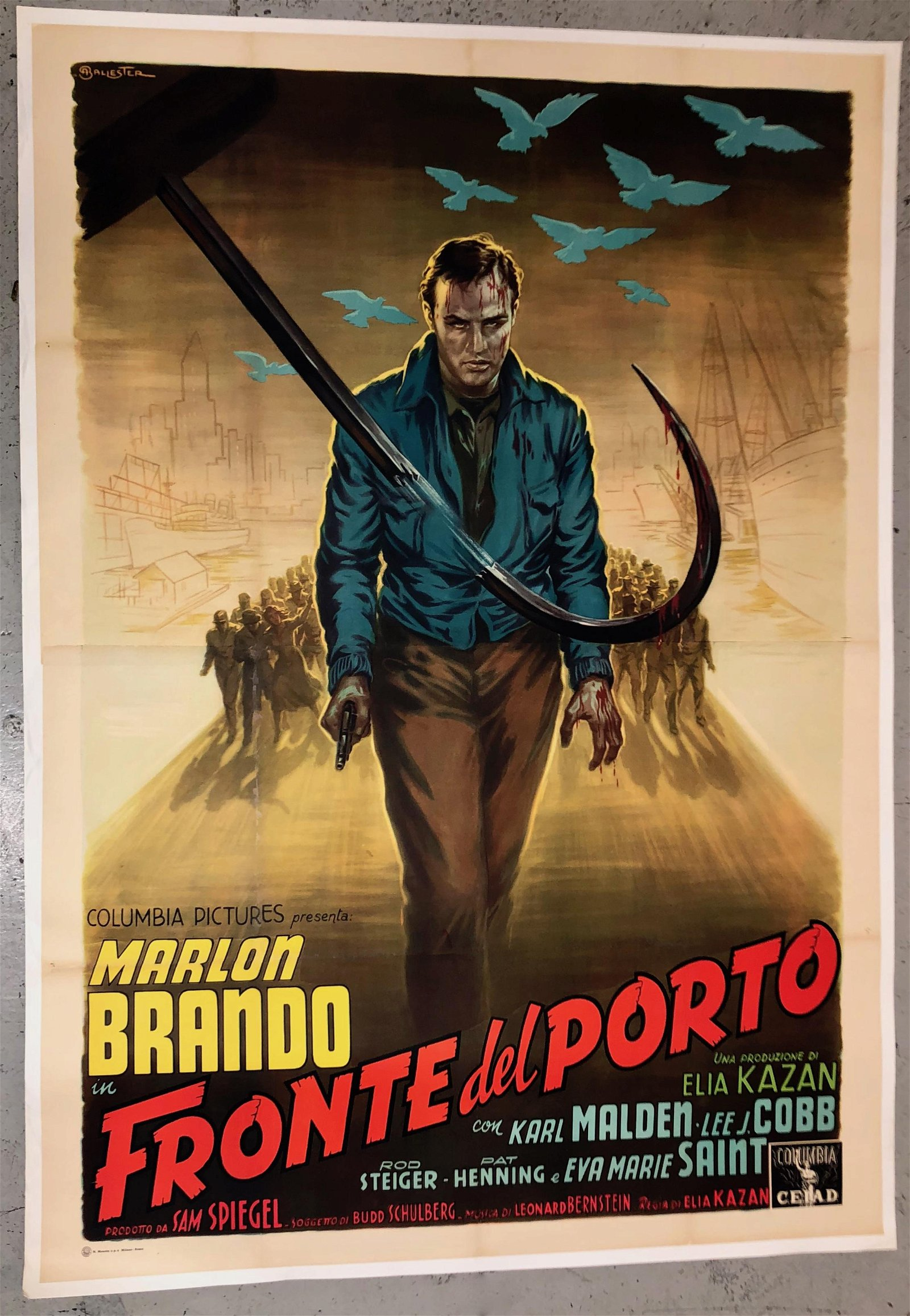 MARLON BRANDO ON THE WATERFRONT/ FRONTE DEL PORTO 1954