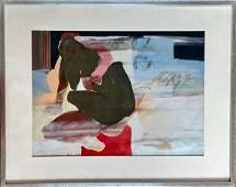 Mid-Century Erotic Abstract Painting Signed,1965