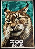 Ludwig Hohlwein Original BERLIN ZOO  Poster 1930s