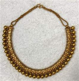 Egyptian Revival 18k yellow gold Collar Necklace