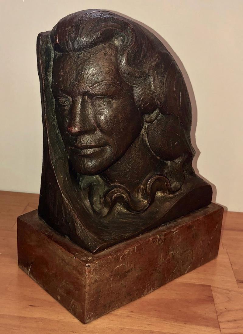 Art Deco Terracotta Male Bust Signed & Dated, 1932