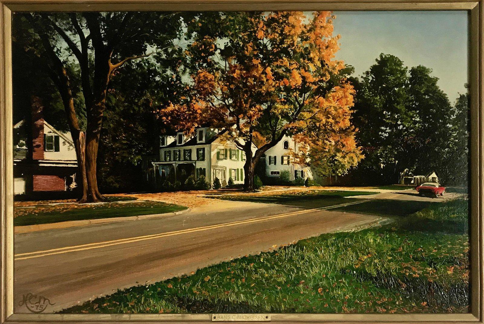 New England Landscape Painting Hans C.Michelsen 1975
