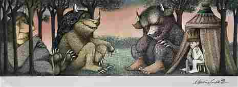 Sendak HandSigned MORNING AFTERWHERE THE WILD THINGS