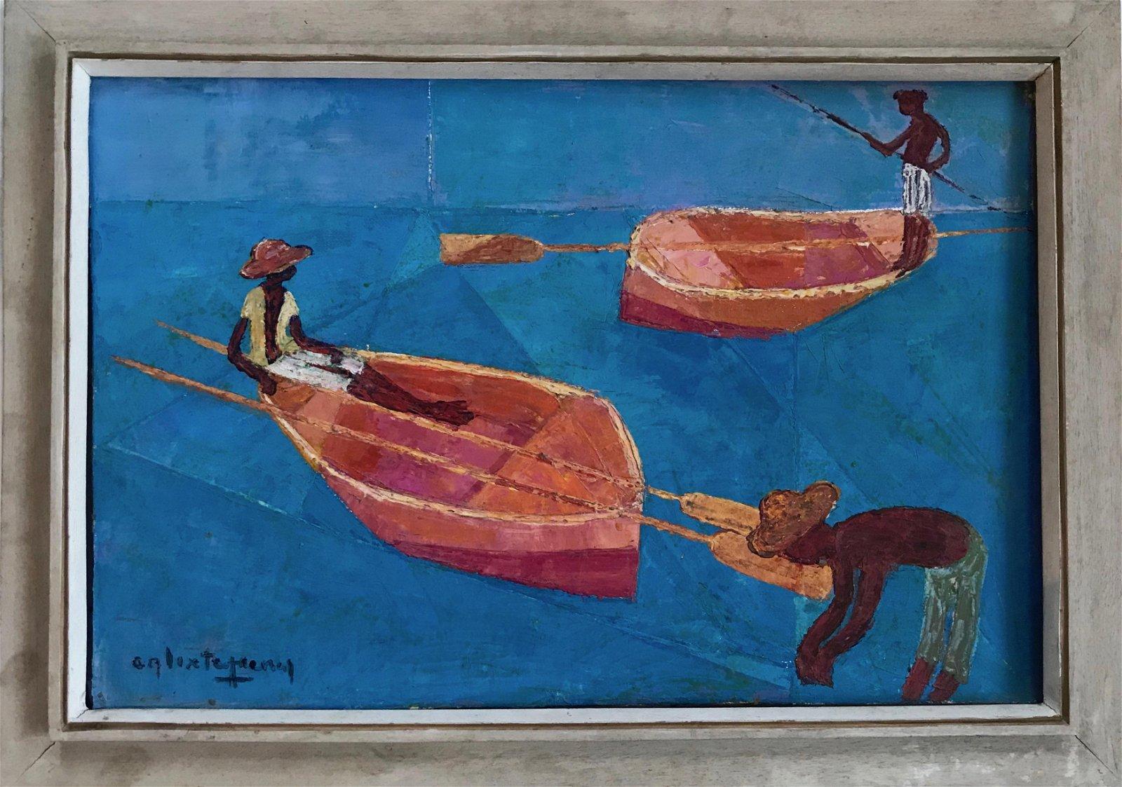 Henri Calixte (Haitian,1933-2010) Oil Painting