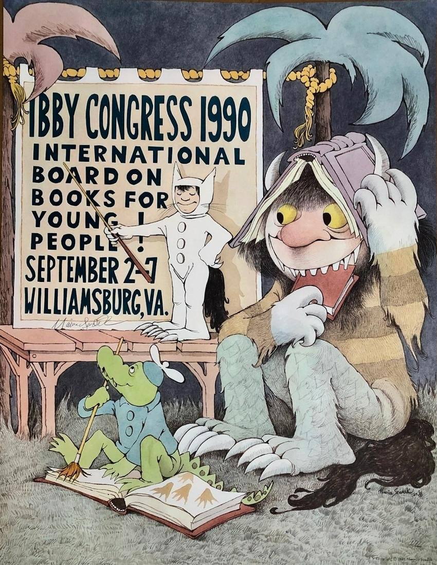SENDAK Hand-Signed & Illustrated IBBY CONGRESS 1990