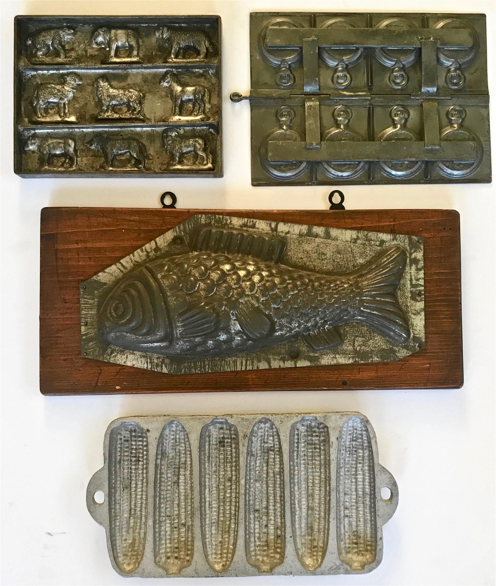 Antique Chocolate Candy Molds (4)