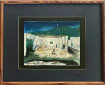 Theater Set Design Painting AMAHL & THE NIGHT VISITORS