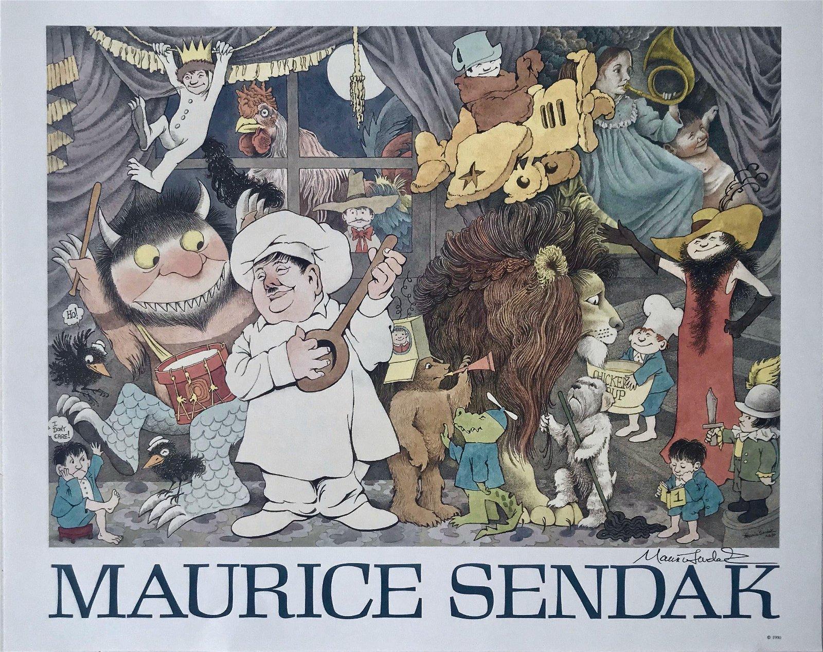 Maurice Hand-Signed MAURICE SENDAK Poster, 1990