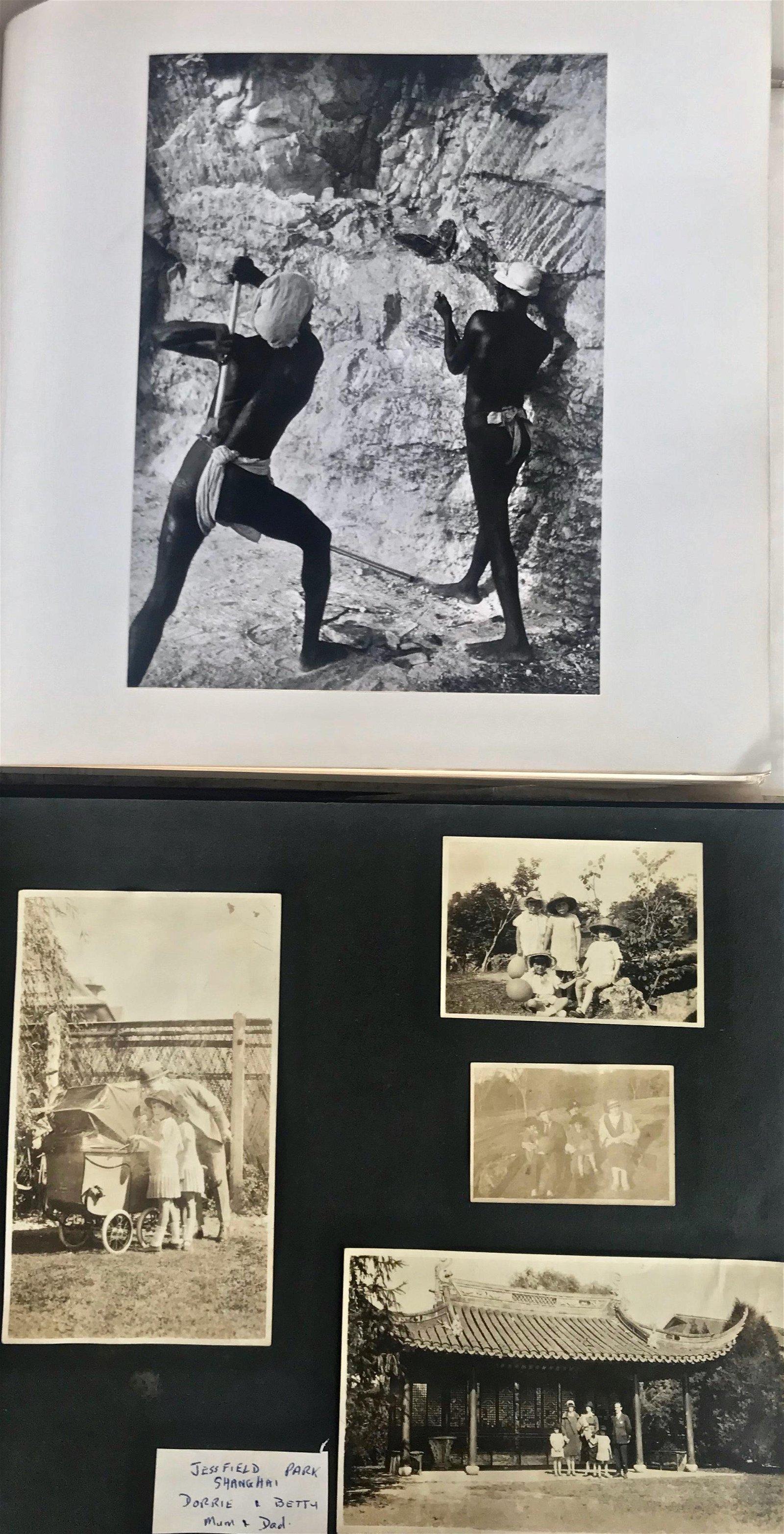 INDIA & SHANGHAI Original Photograph Albums 1920-1948