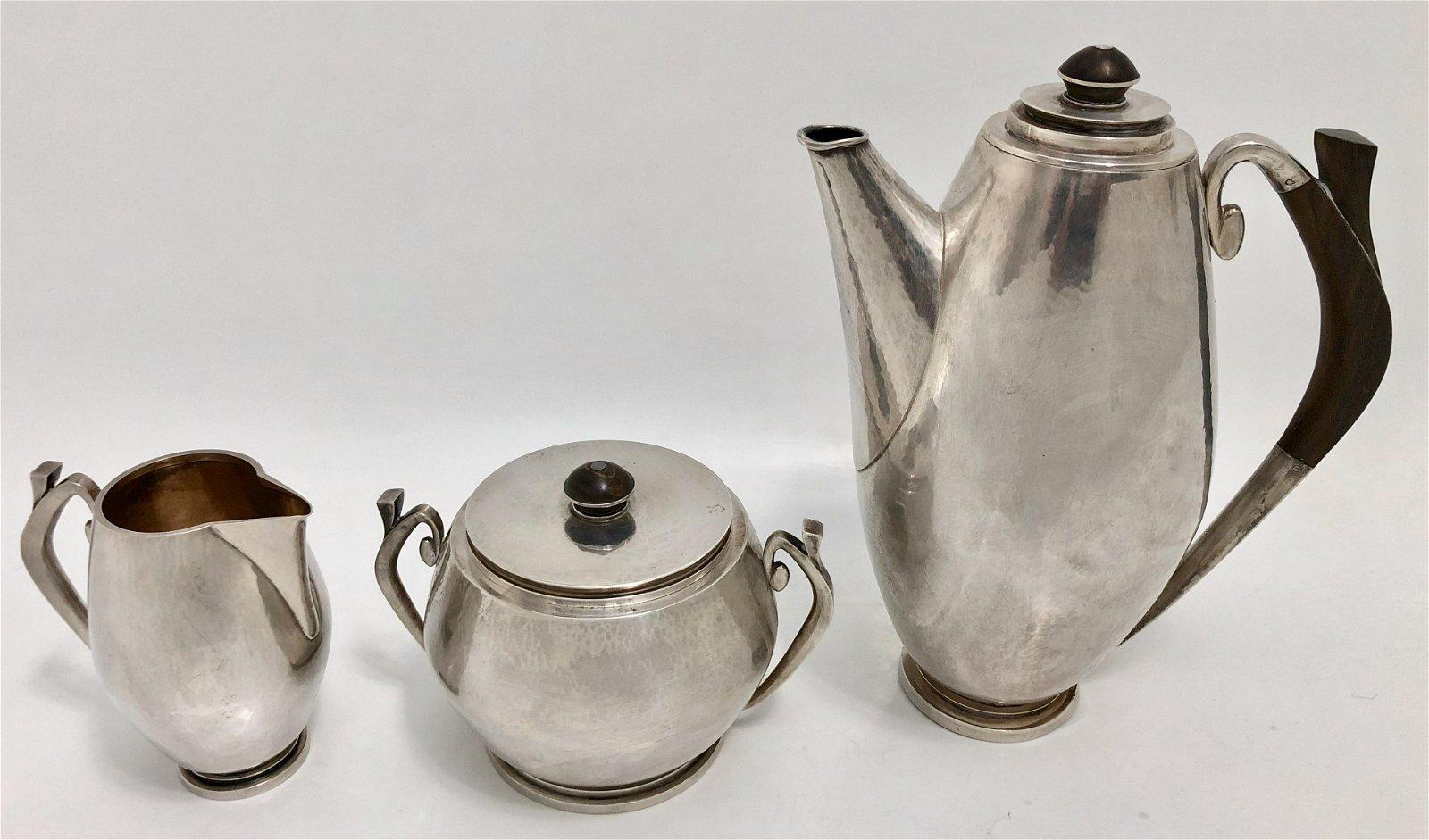 Hans Hansen Danish Sterling Silver Coffee Service