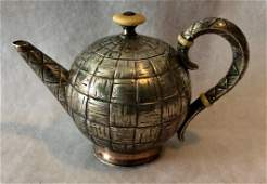 Antique Russian Silver Teapot, Moscow 1880