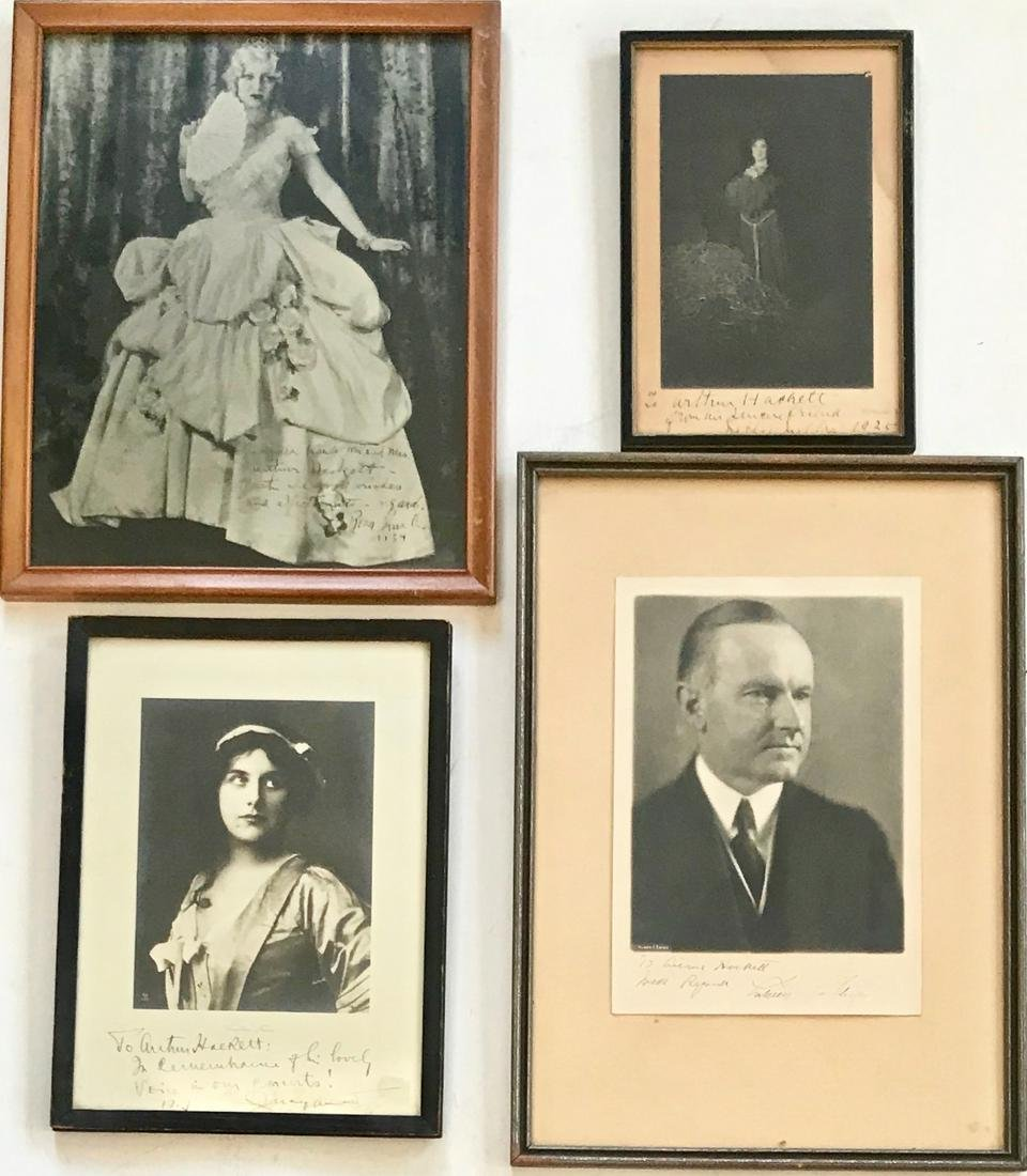 Inscribed Photographs From Renowned Opera Singers