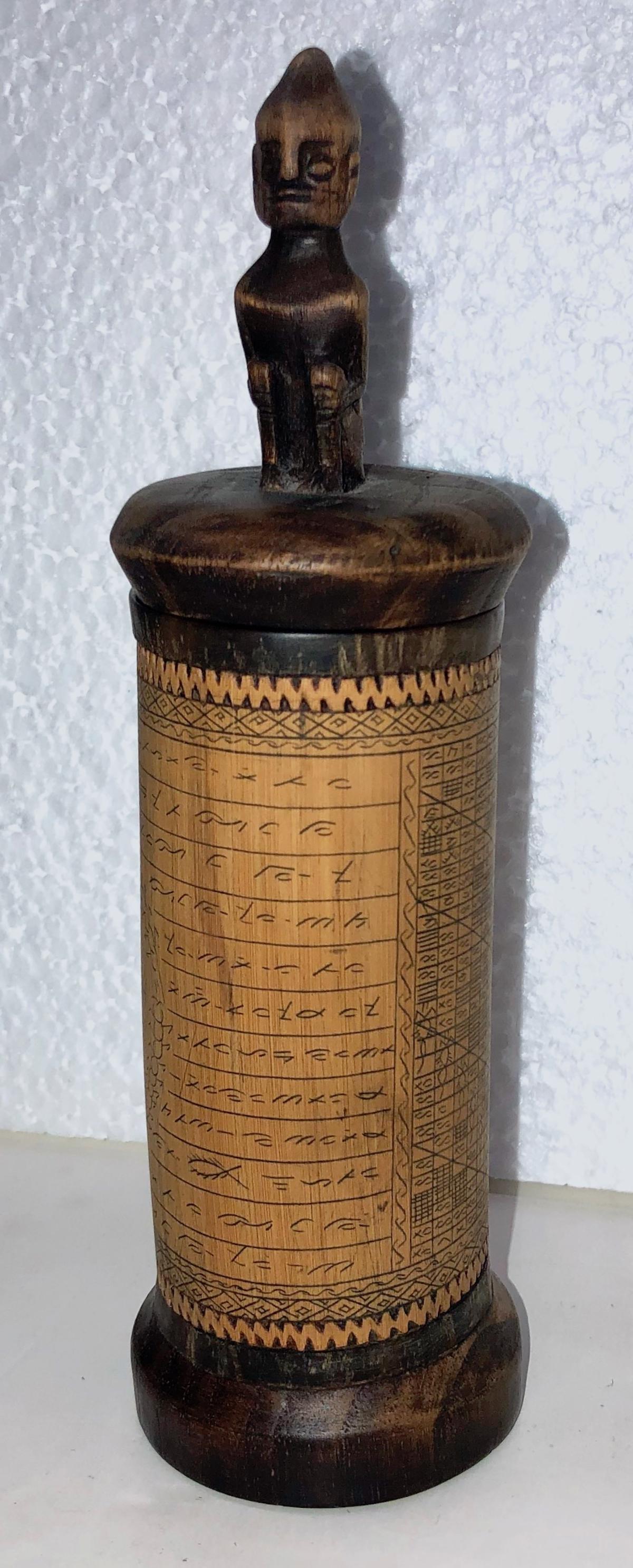 Toba Batak Porhalaan Covered Container Sumatra c.1910