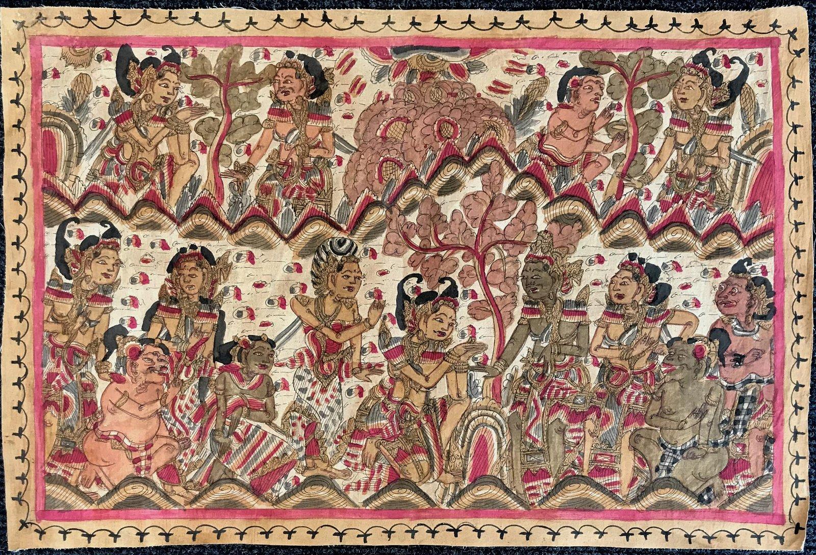 Balinese Traditional Kamasan Painting