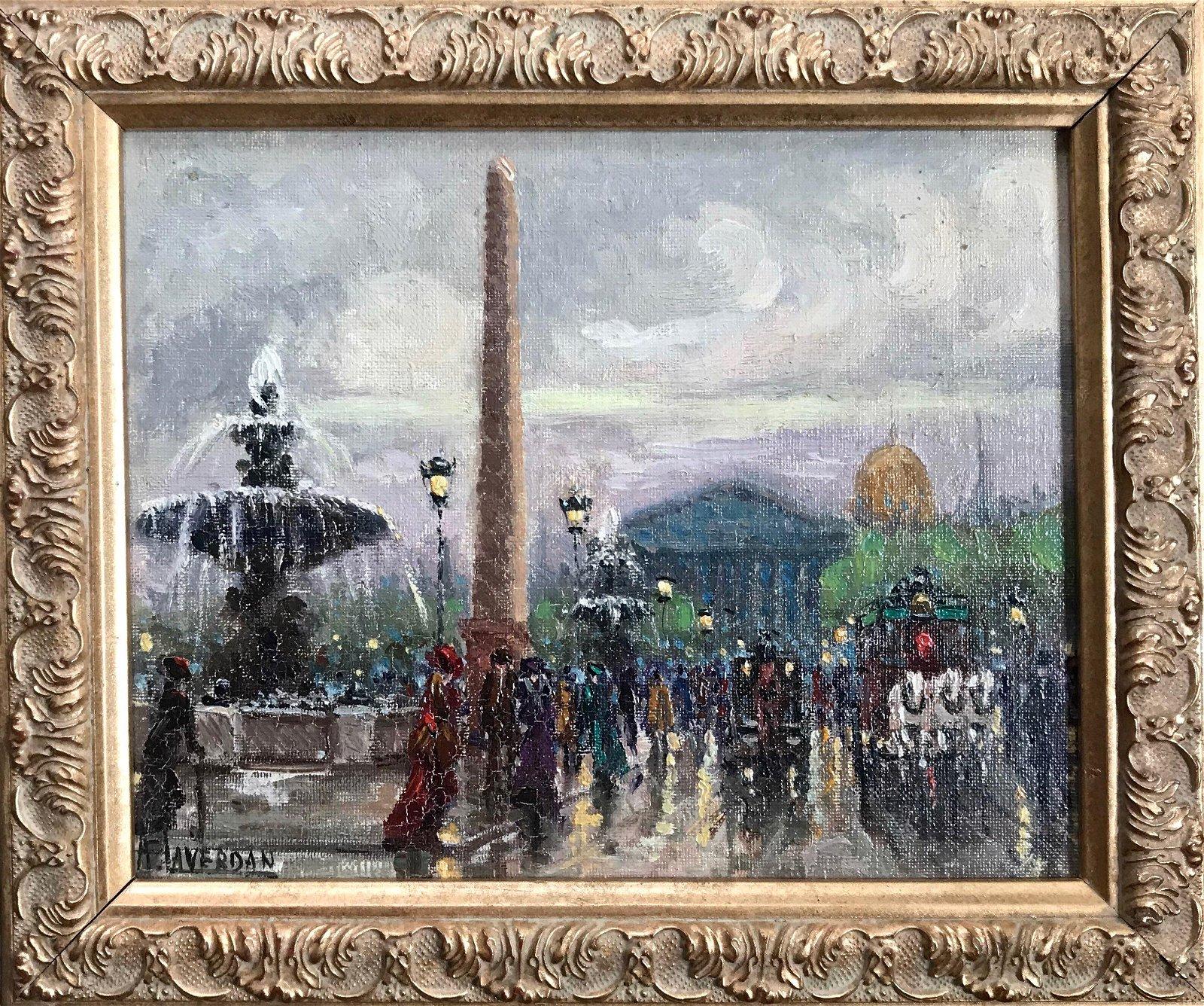 Painting: Place de la Concorde, Paris, Laverdan