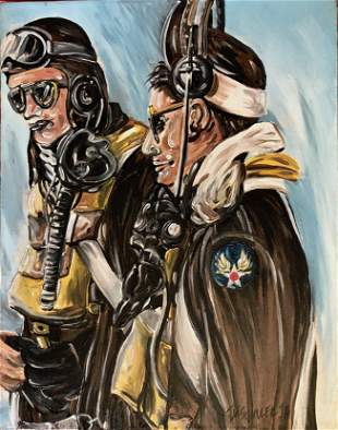 Abstract Painting SQUADRON FIGHTER PILOTS Jon Schuler