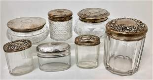Antique Sterling Grouping Of Vanity Jars