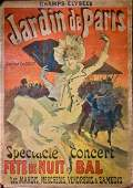 Original Jules Cheret JARDIN DE PARIS 1890