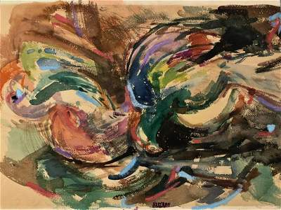 Abstract Expressionist Painting Pat Passlof 1948