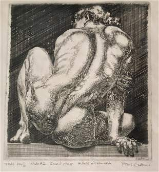 Paul Cadmus Etching NUDE #2, Signed