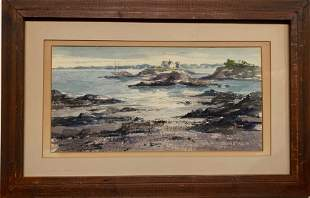 New England Shoreline Painting H Edna TTompkins