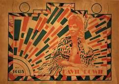 DAVID BOWIE Ziggy Stardust Concert Tour Poster, 1972