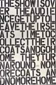 CHRISTOPHER WOOL Signed -Untitled-THE SHOW IS OVER 1993